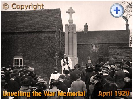 Lapworth : Unveiling the War Memorial [April 1920]
