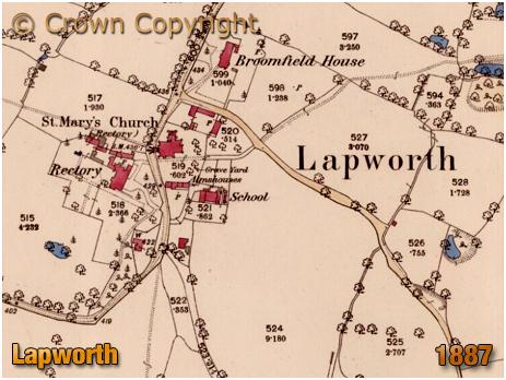 Map of Lapworth [1887]