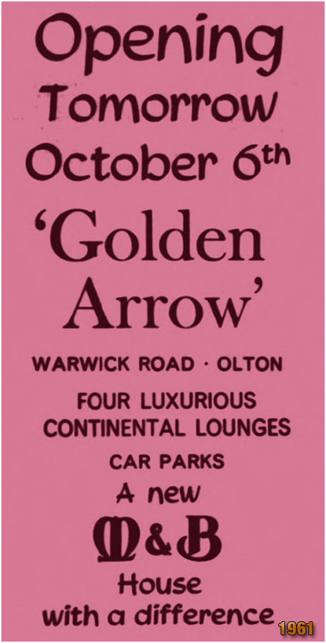Olton : Opening of the Golden Arrow on Warwick Road [1961]