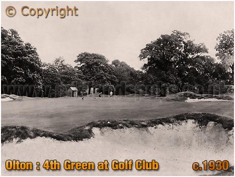 Olton : 4th Green at the Golf Club [c.1930]
