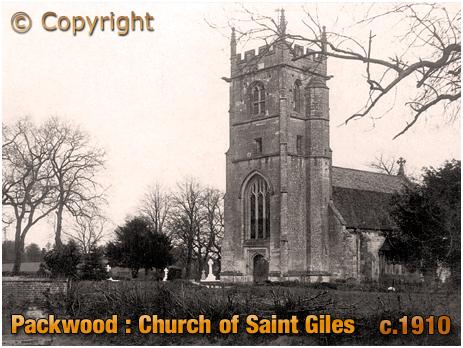 Packwood : Doom Painting in the Parish Church of Saint Giles [c.1910]