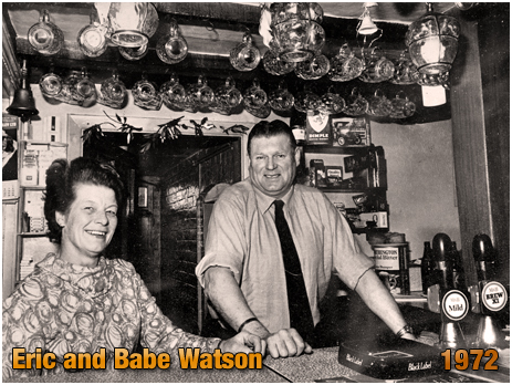 Packwood : Eric and Babe Watson at the Railway Inn [1972]