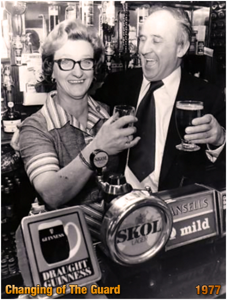 Eunice Griffin with John Colbert at the Duke Inn at Maney in Sutton Coldfield [1977]