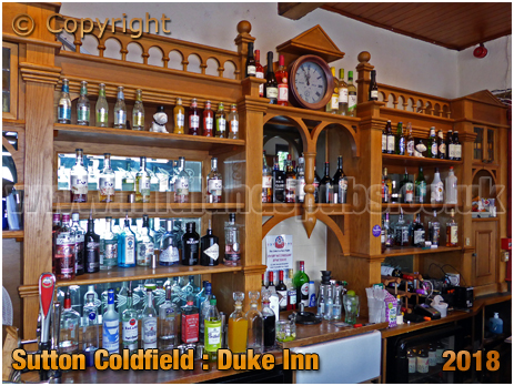 Back Bar of the Duke Inn at Maney in Sutton Coldfield [2018]