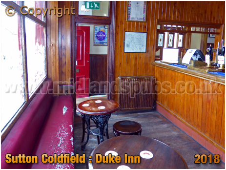 Bar of the Duke Inn at Maney in Sutton Coldfield [2018]