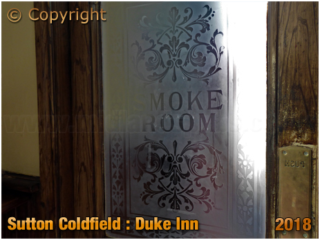 Etched Glass at the Duke Inn at Maney in Sutton Coldfield [2018]