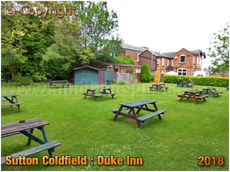 Garden of the Duke Inn at Maney in Sutton Coldfield [2018]