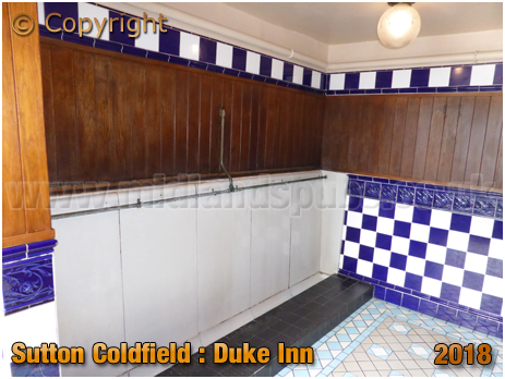 Urinal of the Duke Inn at Maney in Sutton Coldfield [2018]