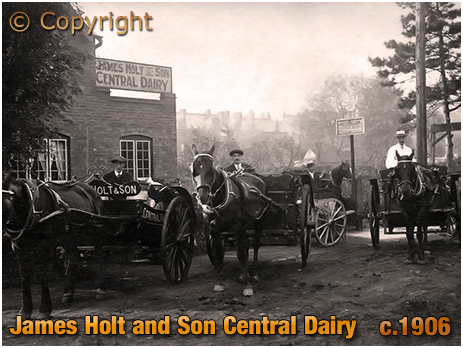 Sutton Coldfield : James Holt & Son Central Dairy [c.1906]
