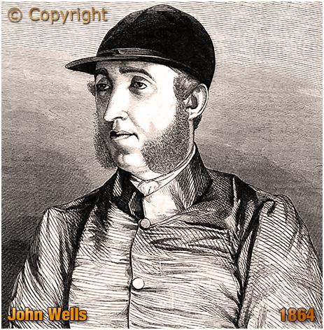 Engraving of Champion Jockey John Wells [1864]