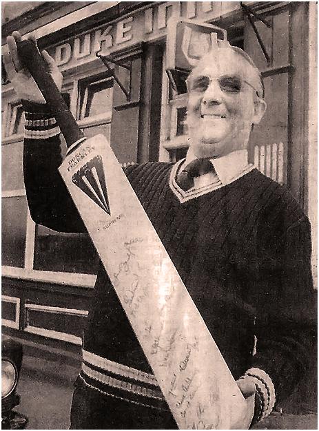 Leo Colbert outside the Duke Inn at Maney in Sutton Coldfield [1979]