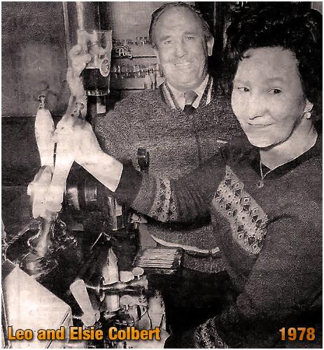 Leo and Elsie Colbert inside the Duke Inn at Maney in Sutton Coldfield [1978]