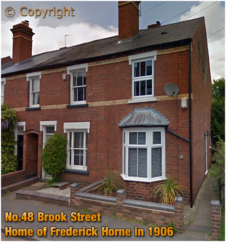 Stourbridge : No.48 Brook Street - Home of Frederick Horne in 1906