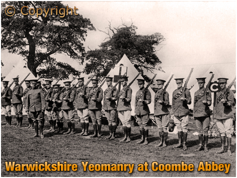 Warwickshire Yeomanry at Coombe Abbey [c.1914]