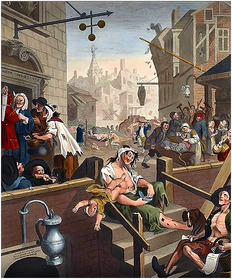 """Gin Lane"" by William Hogarth [1751]"