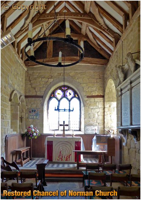 Abberley : Restored Chancel of Norman Church [2016]