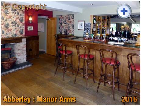 Abberley : Bar at the Manor Arms [2016]