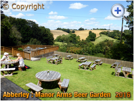 Abberley : Beer Garden at the Manor Arms [2016]