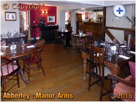 Abberley : Dining Area of the Manor Arms [2016]