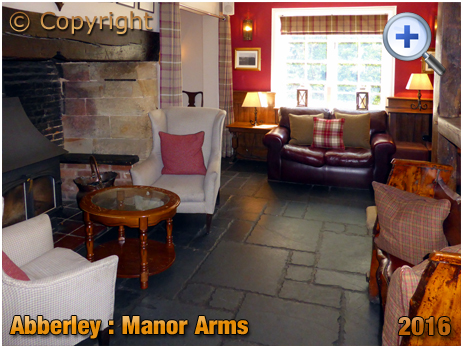 Abberley : Fireplace inside the Manor Arms [2016]