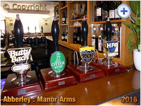 Abberley : Hand Pulls at the Manor Arms [2016]