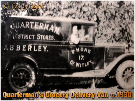 Abberley : Delivery Van of Quarterman's Stores [c.1930]