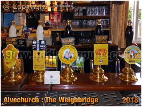 Alvechurch : Handpulls at The Weighbridge [2018]