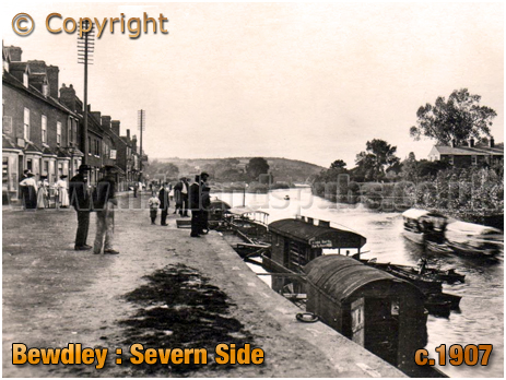 Bewdley : Severn Side with Boats [c.1907]