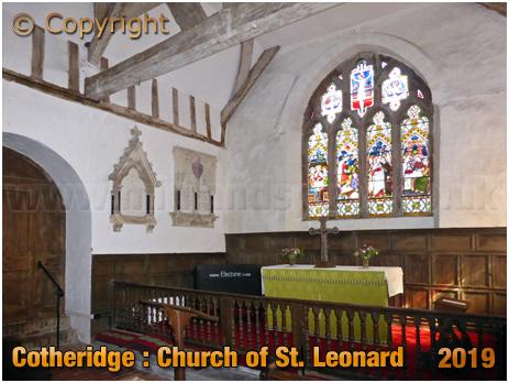Cotheridge : Chancel of the Church of Saint Leonard [September 2019]