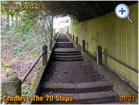 Cradley : The 70 Steps between Hillside Avenue and Highfield Crescent [2021]