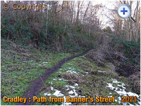 Cradley : Cradley : Path from Banner's Street in Overend [2021]
