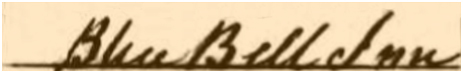 Cradley : Census Entry for the Blue Bell Inn on New Street [1861]