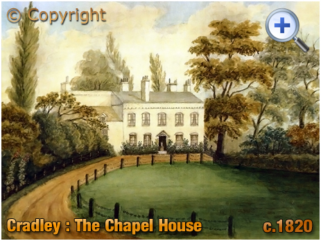 Cradley : The Chapel House [c.1820 © from an original held by Paolo-Lowndes-Marques of Lisbon]