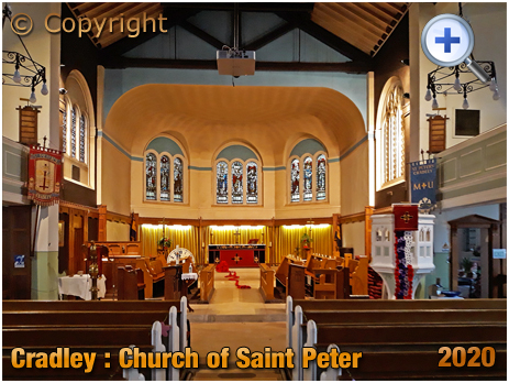 Cradley : Interior of the Church of Saint Peter [2020]