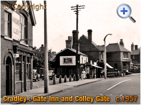 Cradley : Colley Gate with Gate Inn [c.1957]