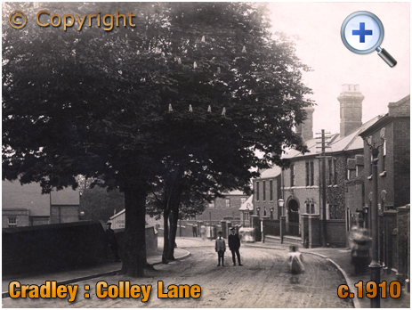 Cradley : Colley Lane with Tree and Police Station [c.1910]