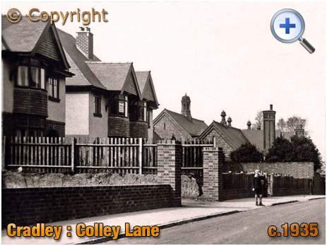 Cradley : Colley Lane Houses and School [c.1935]
