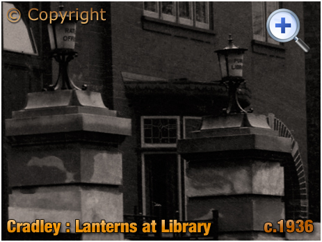 Cradley : Lanterns at the Public Library in Colley Lane [c.1936]