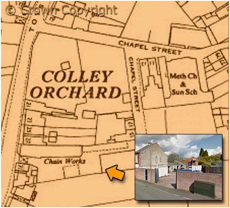 Cradley : Former Chain Works at Toy's Lane Colley Orchard [1955]