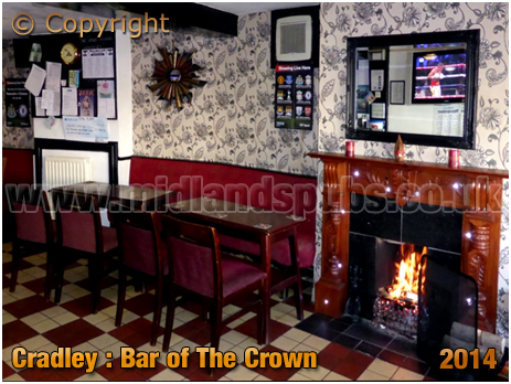 Cradley : Bar of The Widders on Barrack Lane [2014]