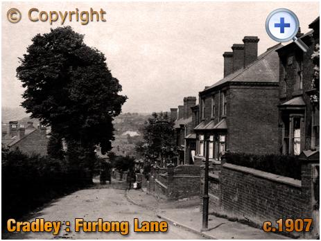 Cradley : Furlong Lane with junction of Talbot Street [c.1907]