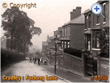 Cradley : Furlong Lane with junction of Talbot Street [c.1908]