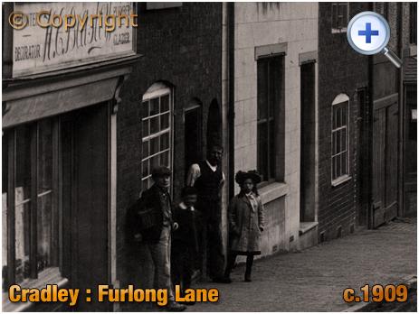 Cradley : Premises of Harry Beasley on Furlong Lane [c.1909]