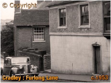 Cradley : Furlong Lane Cottage next to the British Arms Inn [c.1953]