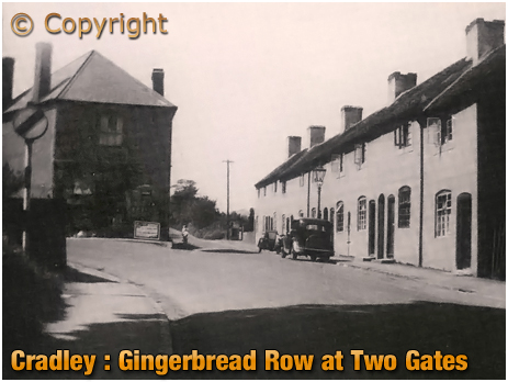 Cradley : Gingerbread Row at Two Gates [c.1948]