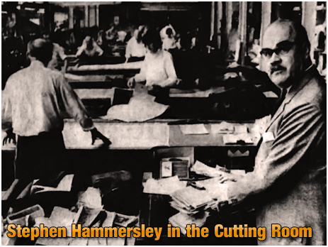Cradley : Managing Director Stephen Hammersley in the Cutting Room of the Lyde Green Factory [1968]
