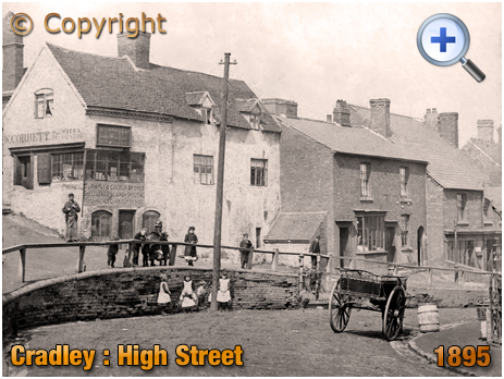 Cradley : High Street Shops and Housing [1895]
