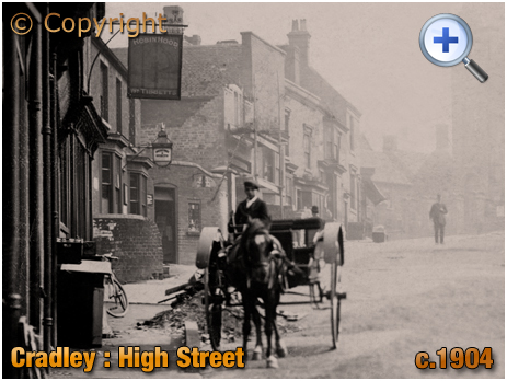 Cradley : High Street with Horse and Trap [c.1904]