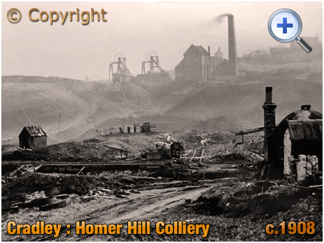 Cradley : Homer Hill Colliery from Lane's End near Lyde Green
