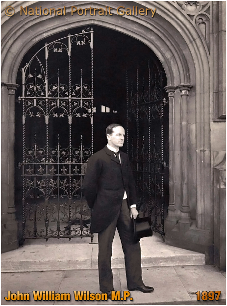 John William Wilson M.P. at the Members' Entrance to Terrace, Houses of Parliament [1897 © National Portrait Gallery